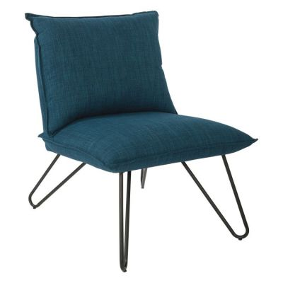 Riverdale Chair in Azure with Black Legs - RVR51-M71