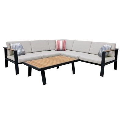 Nofi Outdoor Patio Sectional Set in Gray Finish - SETODNOSEBE