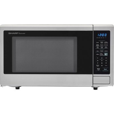1.4 Cu Ft 1000w microwave w/ 12.8'' turntable, LED Display - SMC1442CS