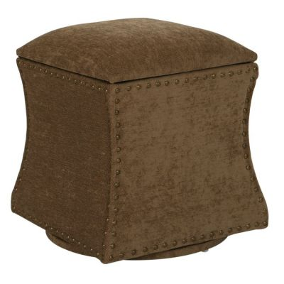 St. James Swivel Ottoman in Earth - STJ-SK786