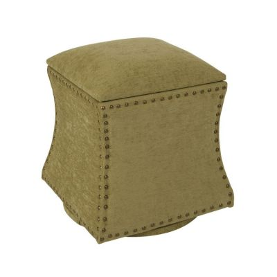 St. James Swivel Ottoman in Olive - STJ-SK8