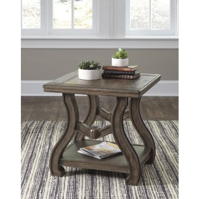 Tanobay Square End Table in Gray - T046-2