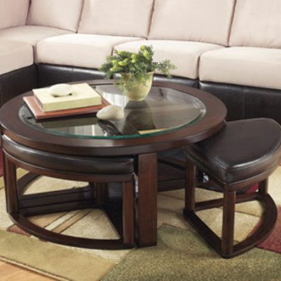 Marion Cocktail Table with Stools (Set of 5) - T477-8
