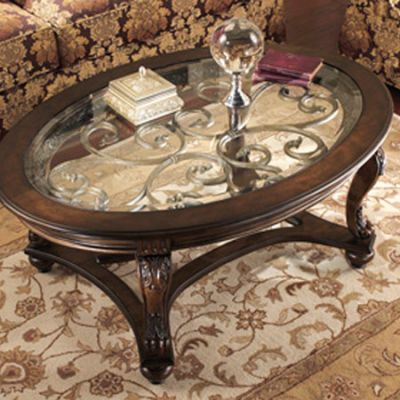 Norcastle Oval Cocktail Table - T499-0