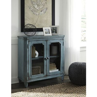 Mirimyn Door Accent Cabinet in Antique Teal - T505-742