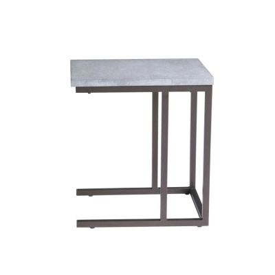 Stoneworks Laptop Table-Concrete-Metal in Natural Stone - T517-07