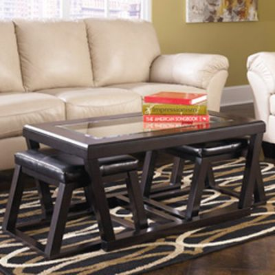 Kelton Cocktail Table with Stools (Set of 3) - T592-1