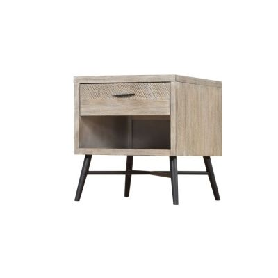 Nova End Table Wood with 1 Drawer in Sterling Gray - T700-01