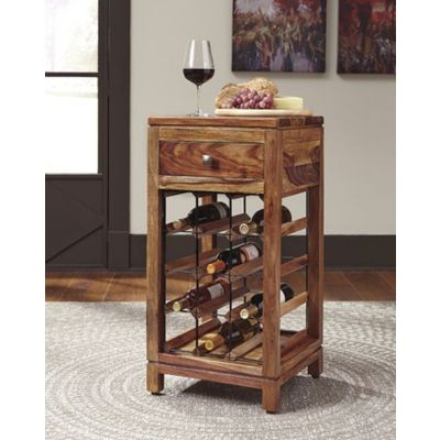 Abbonto Wine Cabinet in Warm Brown - T800-015