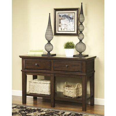 Gately Console Sofa Table in Medium Brown - T845-4
