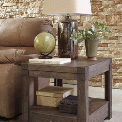 Burladen Rectangular End Table - T846-3