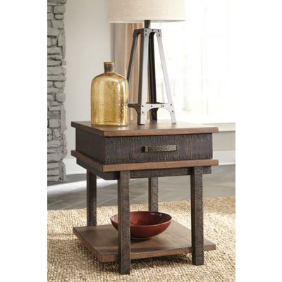 Stanah Rectangular End Table in Two-tone - T892-3