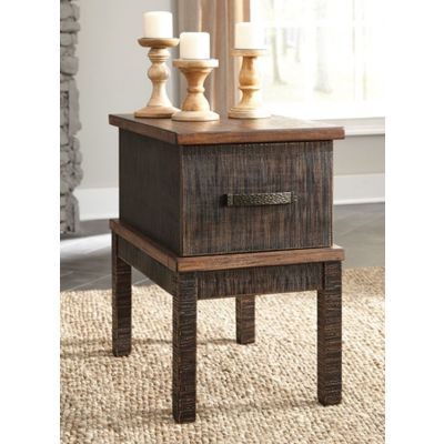 Stanah Chair Side End Table in Two-tone - T892-7