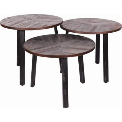 Three Leaves Accent Table in Weathered finish - VEN047-TA129