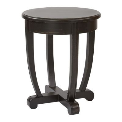 Tifton Round Accent Table in Brushed Black - TFN17AS-AC11