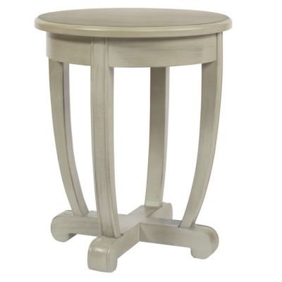 Tifton Round Accent Table in Grey - TFN17AS-GY