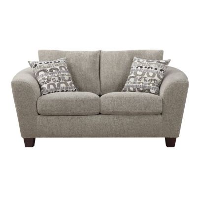 Urbana Loveseat with 2 Accent Pillows in Bone - U3613M-01-09