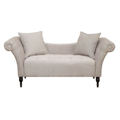 Lucille Settee with 2 Pillows in Linen - U3803-55-05