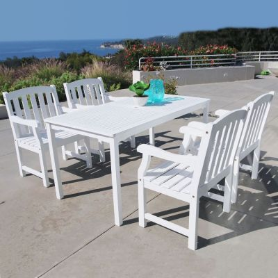 Bradley Wood 5-piece Outdoor Dining Set