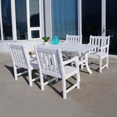 Bradley Wood 5-piece Outdoor Dining Set - V1337SET16