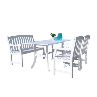 Bradley Wood 4-piece Outdoor Dining Set - V1337SET22