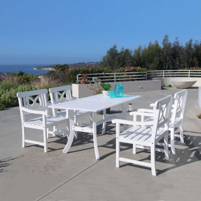 Bradley Wood 5-piece Outdoor Dining Set - V1337SET8