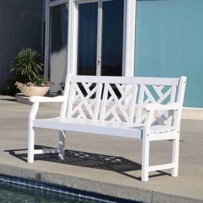 Bradley Outdoor 5-foot Bench in White - V1342