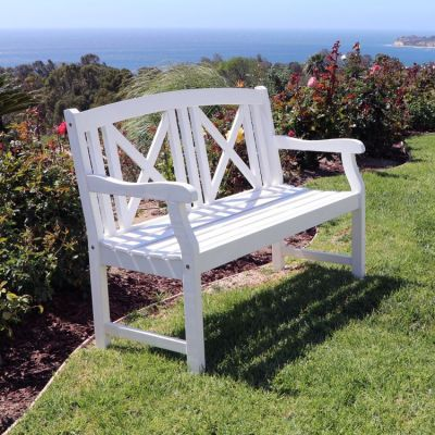Bradley Outdoor 4-foot Bench in White - V1353