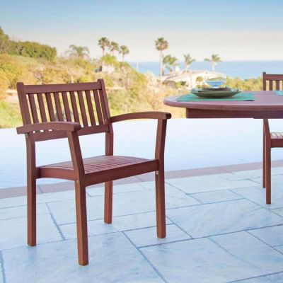 Set of 2 Malibu Outdoor Stacking Armchair - V1387