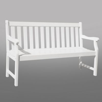 Bradley Outdoor 5-foot Bench in White - V1627