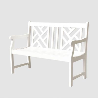 Bradley 4-foot Outdoor Bench in White - V1631