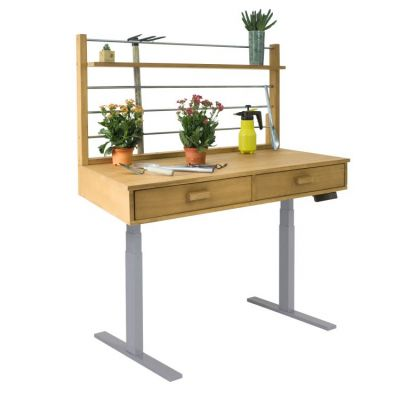 Sit to Stand Potting Bench with Sand-splashed & Grey Frame - V1710
