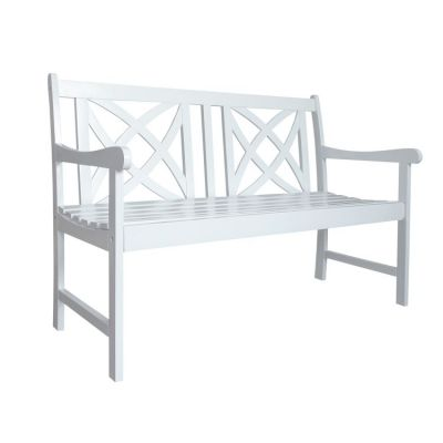 Bradley Outdoor 4-foot Bench in White - V1713