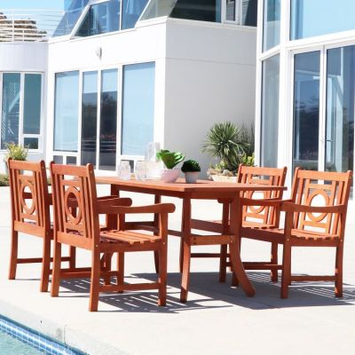 Malibu Wood 5-piece Outdoor Dining Set - V189SET14