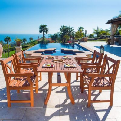 Malibu Wood 5-piece Outdoor Dining Set - V189SET6