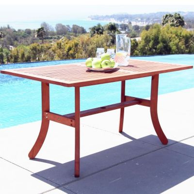 Malibu Outdoor Rectangular Dining Table - V189