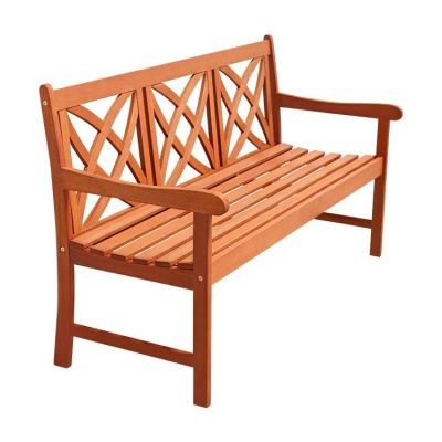 Malibu Cross Back Outdoor 5-foot Bench - V205-1