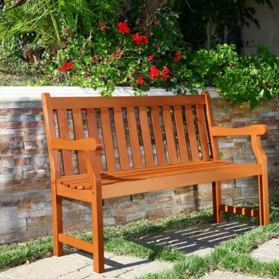 Outdoor 4-foot Henley Wood Bench - V206E