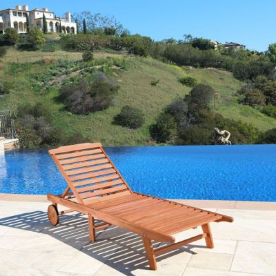 Malibu Single Outdoor Chaise Lounge - V255