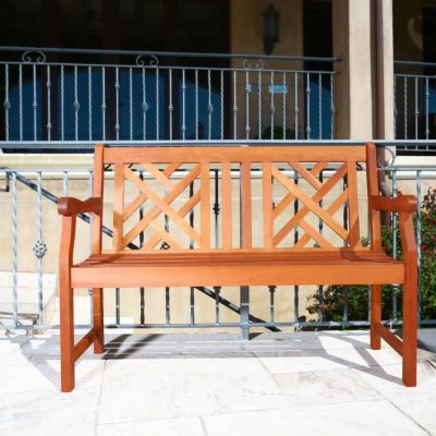 Malibu Outdoor 4-foot Wood Atlantic Bench - V445E