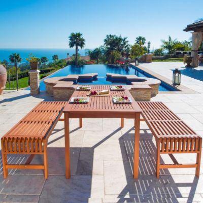 Malibu 3-piece Outdoor Dining Set - V98SET5