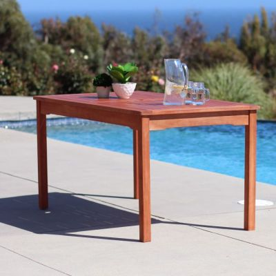 Malibu Outdoor Rectangular Dining Table - V98