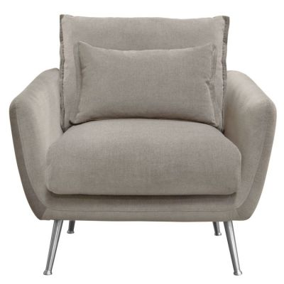 Vantage Chair in Light Flax Fabric with Feather Down Seating - VANTAGECHFL