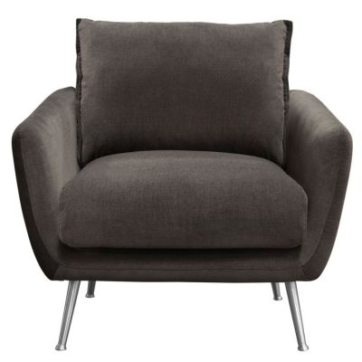 Vantage Chair in Iron Grey Fabric with Feather Down Seating - VANTAGECHGR