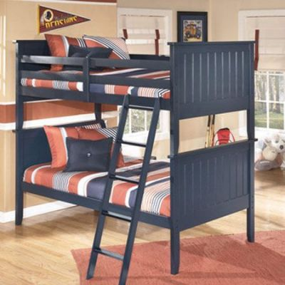 Leo Twin Ginny's Bunk Bed in Blue - 001249_Kit