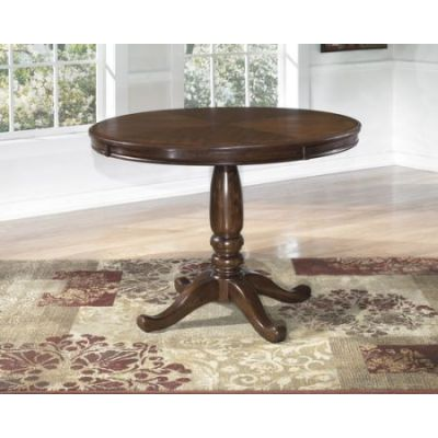 Leahlyn Round Dining Table in Medium Brown - 001308_Kit