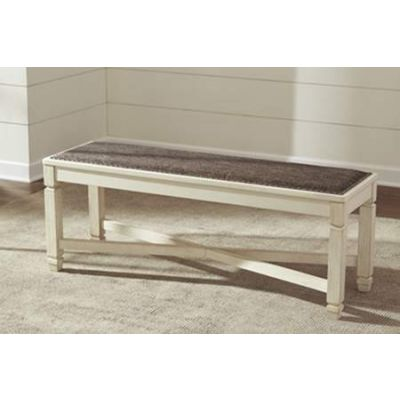 Bolanburg Large Upholstered Dining Room Bench in Two Tone - D647-00