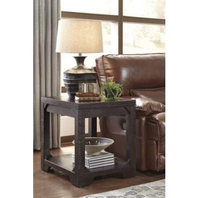 Rectangular End Table in Rustic Brown - T745-3