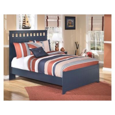 Leo Full Panel Bed in Blue - 001250_Kit