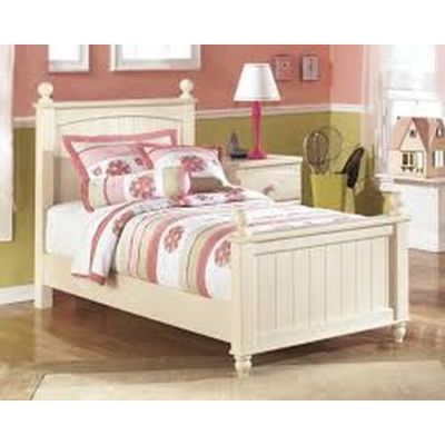 Cottage Retreat Twin Poster Bed in Retreat Cream - 001266_Kit